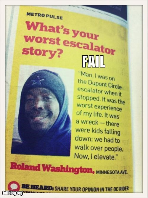 Escalator Story FAIL