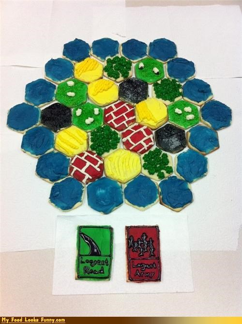 Funny Food Photos - Settlers of Catan Cookies