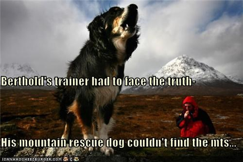 Berthold's trainer had to face the truth- His mountain rescue dog couldn't find the mts...