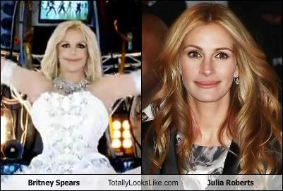 Britney Spears Totally Looks Like Julia Roberts