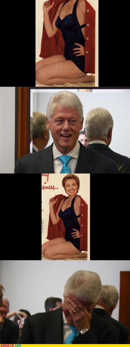 babes,bill clinton,facepalm,Hillary Clinton,politics