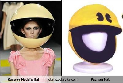 Runway Model's Hat Totally Looks Like Pacman Hat