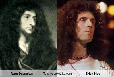 brian may,hair,musician,philosopher,queen,rené descartes