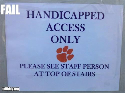 Handicap Elevator FAIL