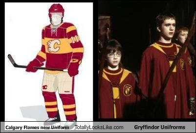 Calgary Flames New Uniform Totally Looks Like Gryffindor Unifrorms