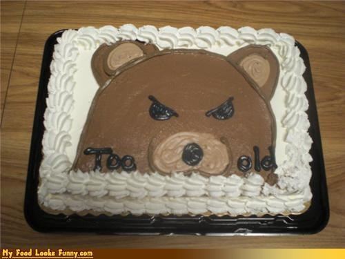aging,birthday,cake,frosting,pedo bear,too old