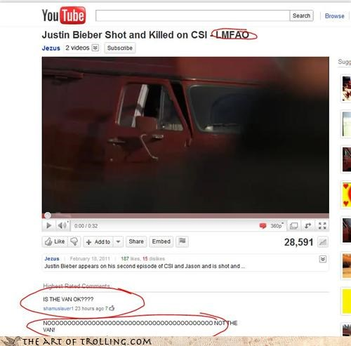 apathy,csi,justin bieber,killed,poor van,shot,youtube