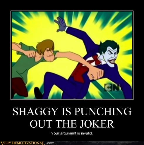 shaggy,joker,punch,scooby doo