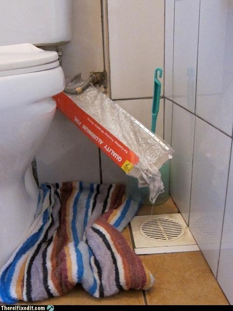 bathroom,leak,plumbing,quick fix,toilet