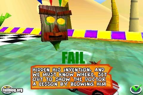 Game Instruction Fail