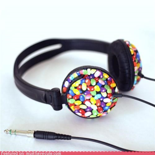 audio,candy,headphones,jelly beans