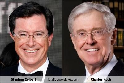 Stephen Colbert Totally Looks Like Charles Koch