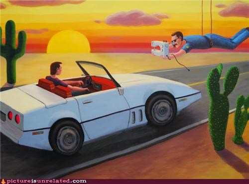 art,awesome,car,cops,painting,wtf