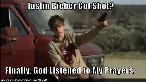 Justin Bieber Got Shot?  Finally, God Listened to My Prayers.