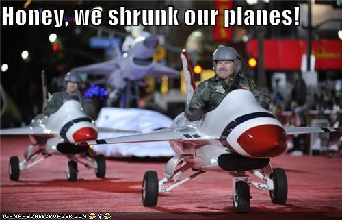 Honey, we shrunk our planes!