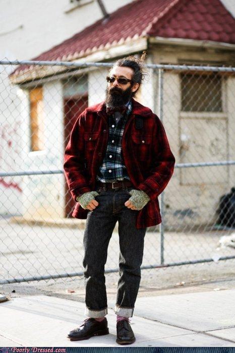 beard,fingerless gloves,hipster,hobo,homeless,jacket