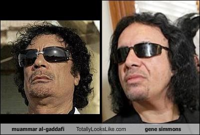 Muammar al-Gaddafi Totally Looks Like Gene Simmons