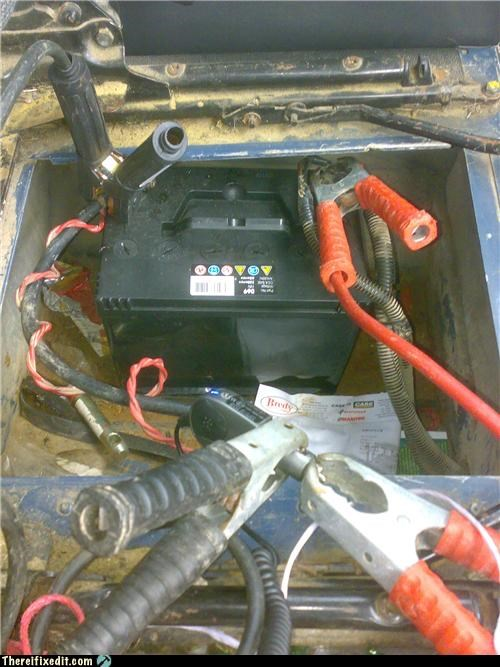 cell phone,jump start,jumper cables