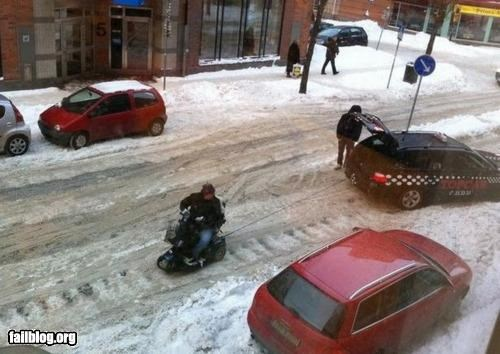 Snow Towing FAIL