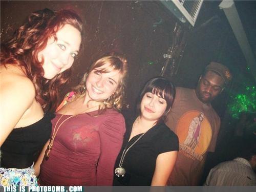 awesome,Big Lebowski shirt,butt,caught looking,club,photobomb