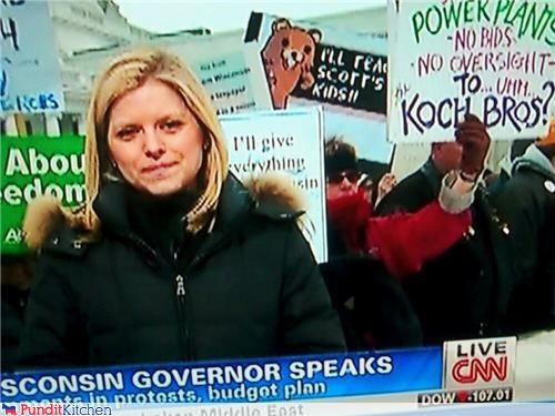 Spotted at the Protests in Wisconsin...