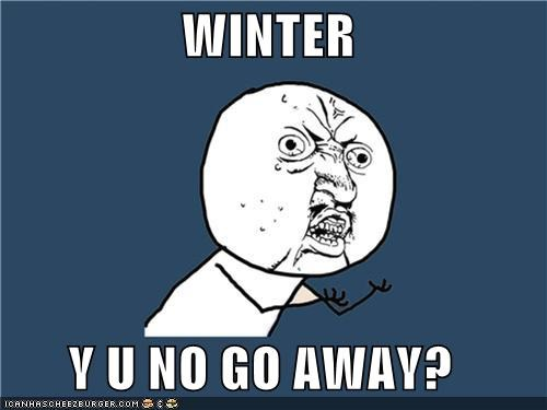 WINTER  Y U NO GO AWAY?