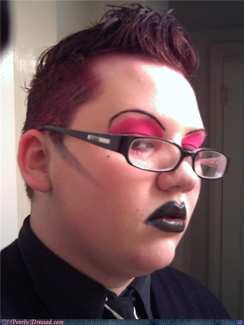The Black Lipstick Really Brings Out The Pink In Your Hair