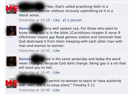 Facebook Back-And-Forth of the Day