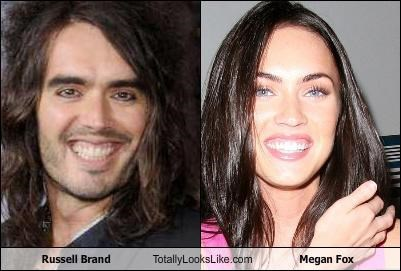 Russell Brand Totally Looks Like Megan Fox