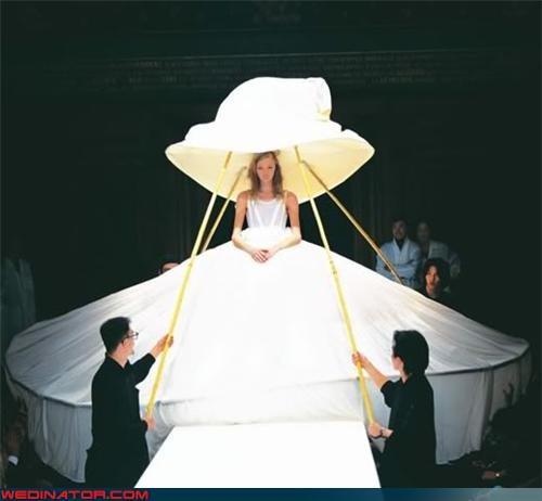 bridal fashion,fashion,funny wedding photos,rover,runway,The Prisoner,wedding gown,yohji yamamoto