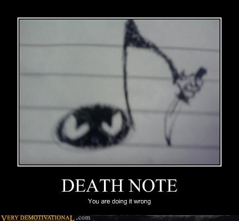 death note,doing it wrong