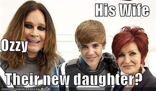 His Wife Ozzy Their new daughter?