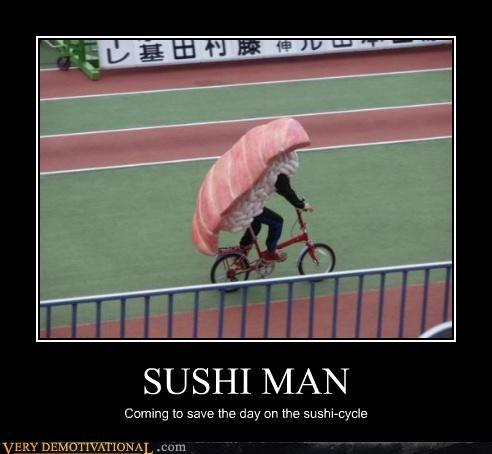 sushi,cycle,bike,superhero