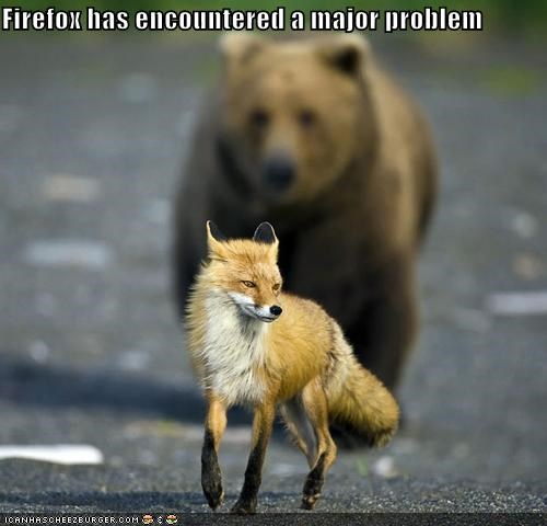 Firefox has encountered a major problem