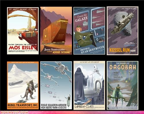 """Vintage"" Star Wars Travel Posters"