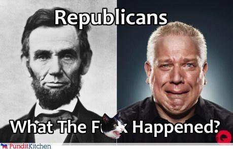 abraham lincoln,glenn beck,Republicans,wtf