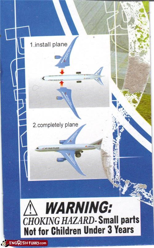 accidental pun,airplane,installation,instructions,plane,pun,toy
