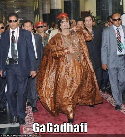 dictators,fashion,lady gaga,libya,muammar al-gaddafi