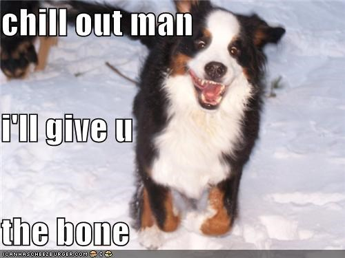 chill out man i'll give u  the bone