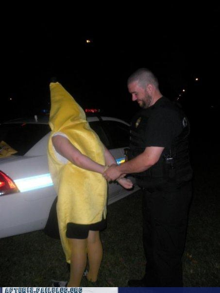 arrested,banana,cop,costume,Party,police