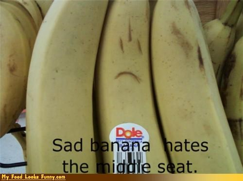 airplane,banana,middle,Sad,seat,Travel