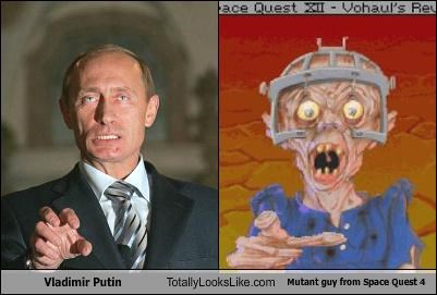 Vladimir Putin Totally Looks Like Mutant Guy from Space Quest 4