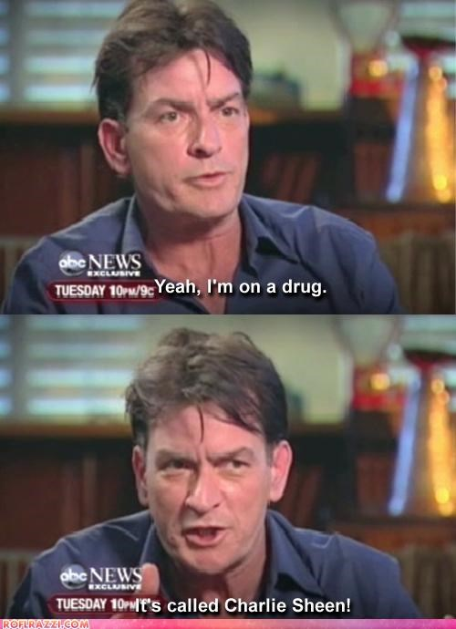 Charlie Sheen Is Now A Drug, Claims Charlie Sheen