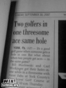 Completely Relative News: It Was On The Back Nine