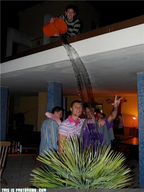 bucket,outside,Party,Perfect Timing,photobomb,water