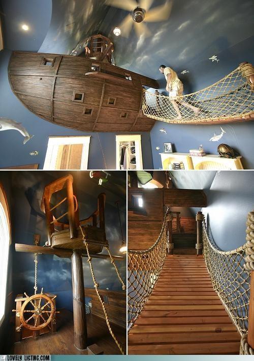 bedroom,design,pirate ship