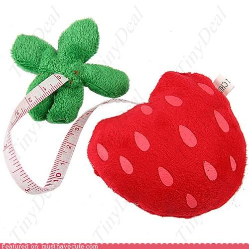 measuring tape,Plush,retractable,sewing,strawberry