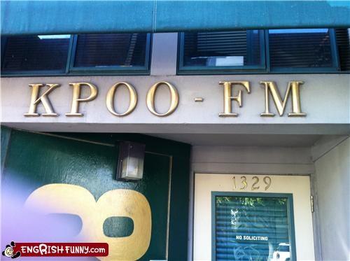 poo,radio,sign