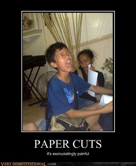 pain,paper cut,sad face