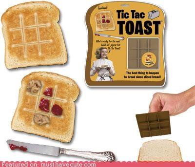 game,grid,jelly,o,peanut butter,tic tac toe,toast,x